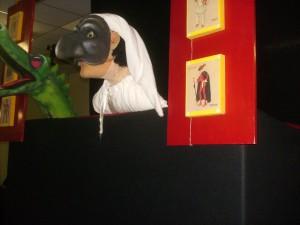 Fotografia scattata durante uno spettacolo di burattini