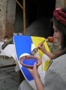 Rievocazione di pittore di strada
